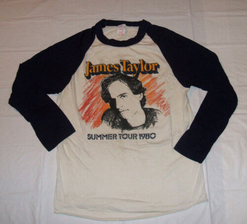James Taylor Vintage Original 1980 Summer Tour Concert Jersey Style Shirt Small