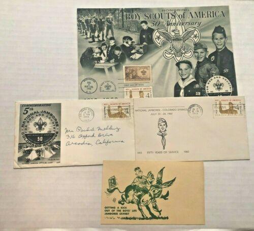 1960 Boy Scout Jamboree Stamps and Cover Envelopes Memorabilia Philatelic