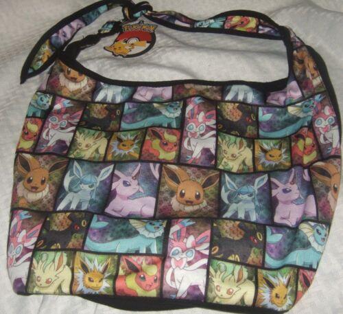 New Pokemon GO EEVEE Evolutions Character Hobo Tote Bag Crossbody Purse Nintendo