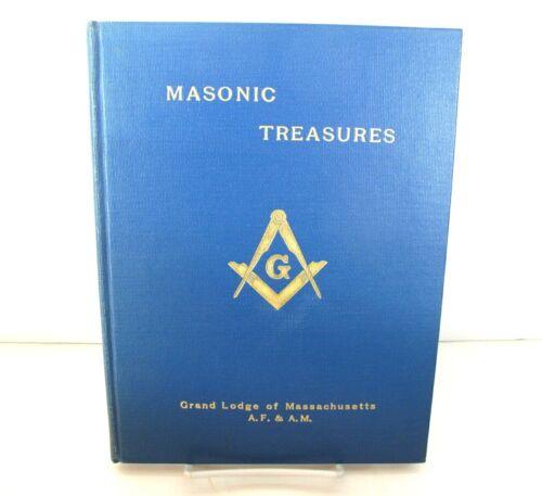 MASONIC TREASURES Grand Lodge Massachusetts Boston HC/1st Ed 1955 Illustrated
