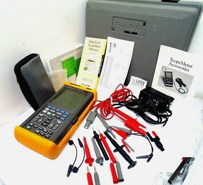 Fluke 97 Scopemeter Dual Channel 50mhz W Probes Power Supply - Exc.