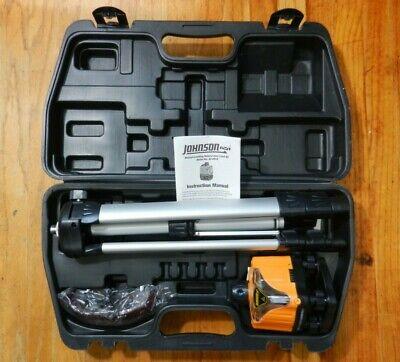Johnson Rotary Laser Level Kit 40-0918 W Case Tripod Glasses And Instructions