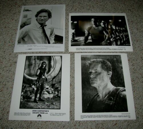 "KURT RUSSELL FOUR (4) ORIGINAL B&W 8x10 PRESS PHOTOS ""ESCAPE FROM L.A."""
