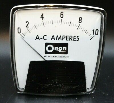 Ge Ac 10a Analog Ammeter Panel Mount Pointer Amp Current Meter Gauge