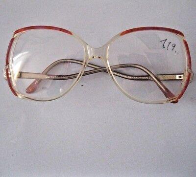Vintage on-line Brillenfassung Kunststoff extravagant rot/transpar.neu Auflösung