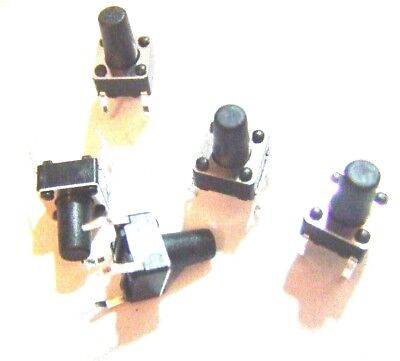5x 6x6x9mm With 5mm Push Button Pcb Momentary Tactile Switch 4 Pin
