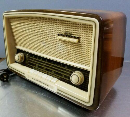 Vintage Nordmende Sterling Elektra E138 Wood Tube Radio, BC Shortwave FM, c.1960