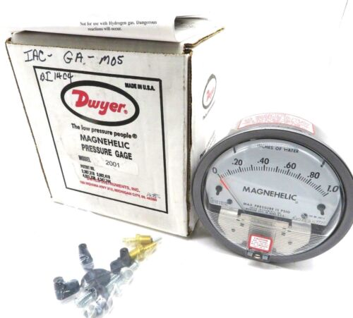 NEW DWYER 2001 PRESSURE GAGE