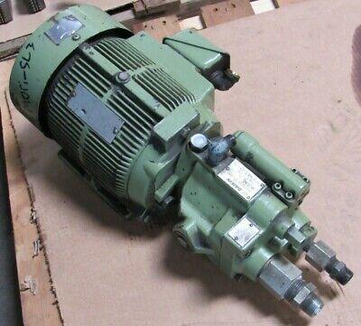 Daikin Piston Pump Model V15a1r-40 W Motor From Mori Seiki Sl-3