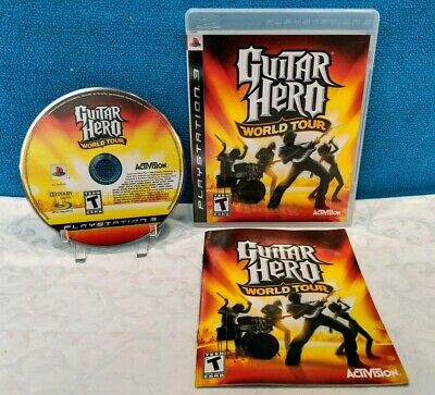 Guitar Hero: World Tour (Sony PlayStation 3, 2008) with Manual - Tested/Working for sale  Shipping to Nigeria