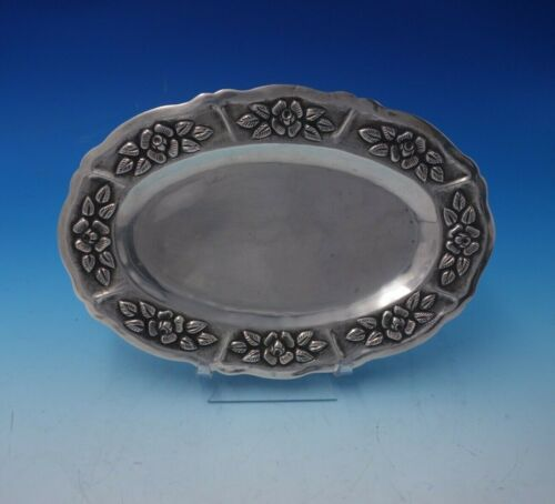 Aztec Rose by Unknown Mexican Sterling Silver Serving Plate Oval (#4997)