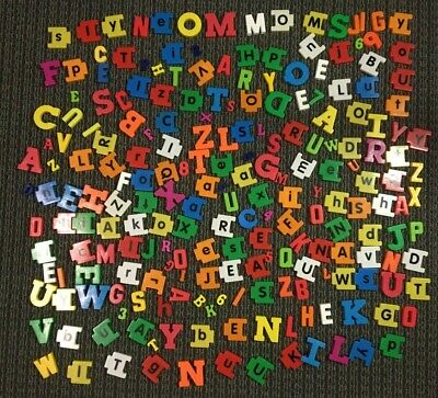Lot of 200 Magnetic Plastic ALPHABET LETTERS  FOR Refrigerator & MORE