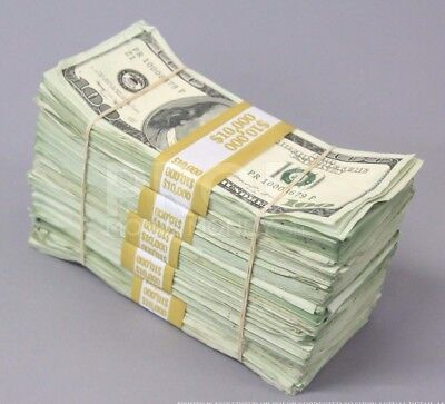 $50,000 BEST AGED BLANK FILLER PACK 2000s Style Prank Fake Prop Money $100s