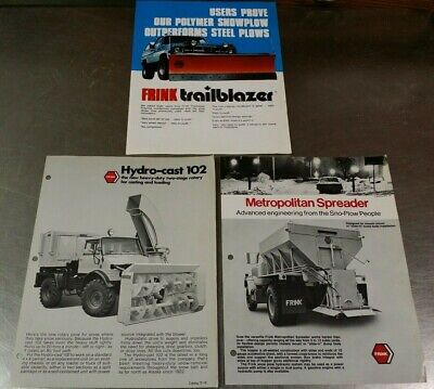 3 Frink Sno-plow Snow Equipment Catalog Brochures Highway Rotary Blower Spreader