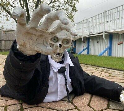Animated 5ft Life-Size Mr. Zombody Crawling Skeleton - Gemmy Halloween 2011 NEW