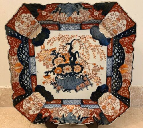 Stunning Antique 19th Century Japanese Unusually Large Imari Tray