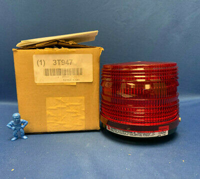 Federal Signal 141st-120r Electraflash Strobe Warning Light - Red 120av 5060hz