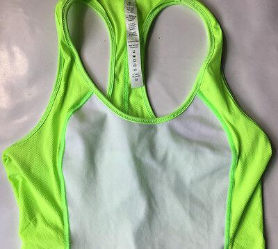 New LULULEMON  Women's Tank Top Size 6 Yoga  Active Wear Gym Workout Raceback