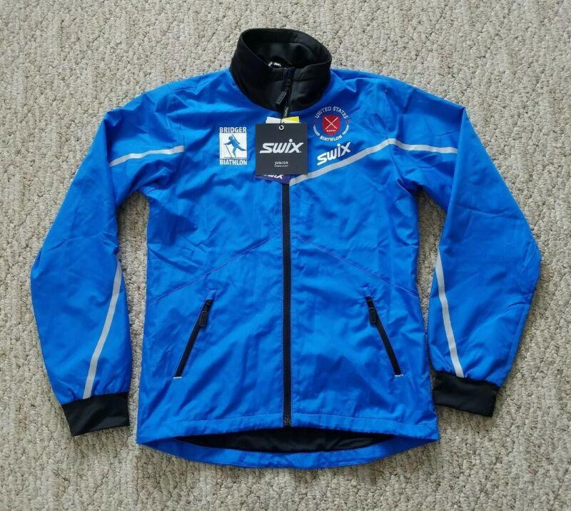 New Swix Epic Jacket Juniors Youth Color Blue Sz 152 12 Yrs Nordic Ski Full Zip