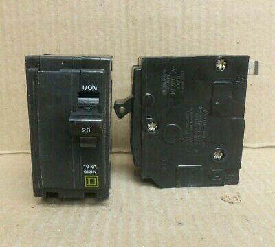 Square D Qo Qo220 2 Pole 20 Amp 240v Yellow Circuit Breaker
