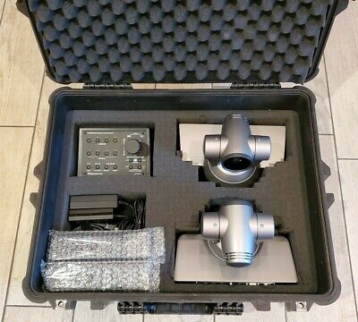 2 Sony Evi-hd1 Ptz Video Camera Sony Control Panel Pelican Case And Cables