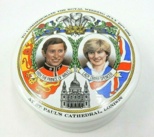 VINTAGE ROYAL WEDDING PRINCE CHARLES PRINCESS LADY DIANA TEA BOX ~ #2234 OF 5000
