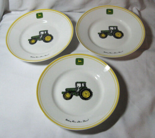 John Deere Yellow Rimmed Bowl By Gibson-Nothing Like a Deere-9 inch-set of 3