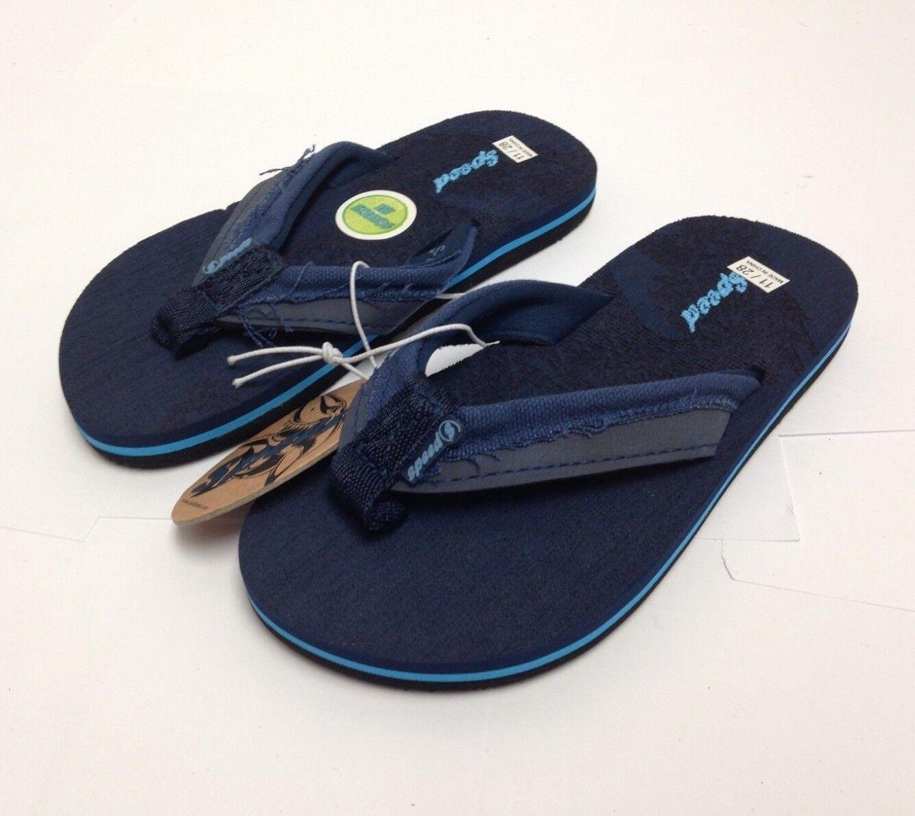 Just Speed Flip-Flops Sandals For Boys Soft Slide On, Blue,