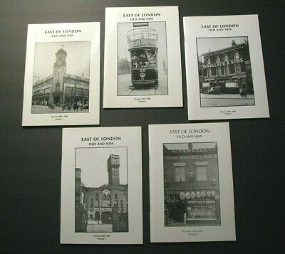 *1898-1991 *EAST OF LONDON* 5-VOLUME OOP PICTORIAL LOT –STRATFORD – LEYTON*