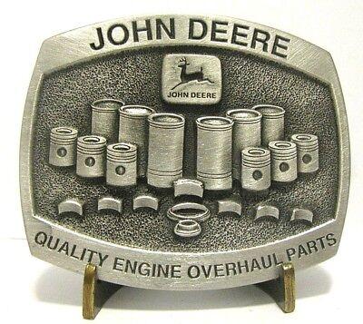 John Deere Tractor Engine Piston Overhaul Parts Pewter Belt Buckle Limit Ed 1992