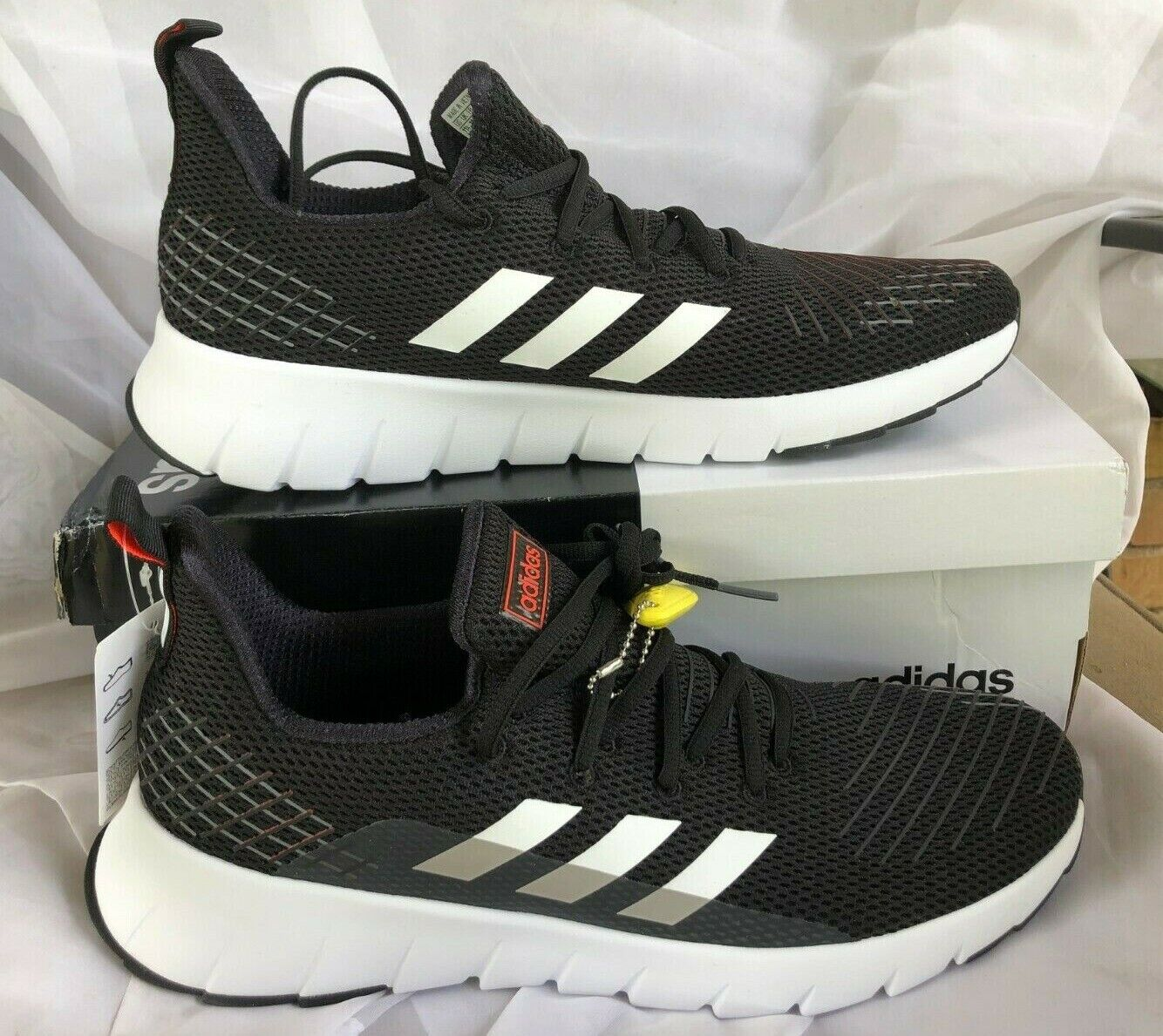 NEW adidas Asweego Sneakers Men's Athletic Shoes Black/White