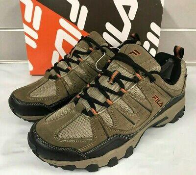 Fila Men's Midland Hiker Trail Shoes BRN/Orange New Sizes 8-13