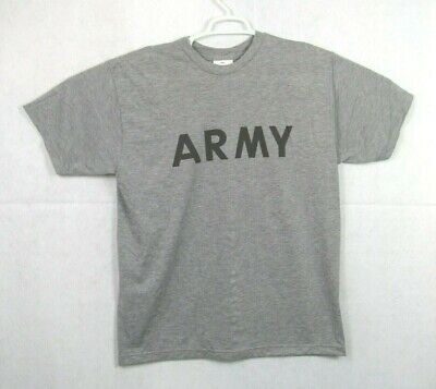 Army National Guard Military T-shirt (Mens US Army Military National Guard Training Combat T shirt Grey Size Large 8n )
