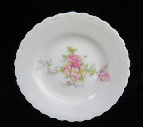 Austria Porcelain Pink Floral Butter Pat  #3