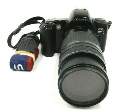 CANON EOS REBEL XS 35MM CAMERA WITH 75MM - 300MM CANON 1:4-5.6 ZOOM LENS