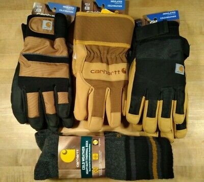 New Carhart Thermal Insulated Cold Weather Work Gloves And Socks