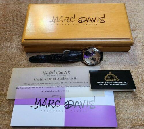 Marc Davis Signature Series Maleficent - Disney Wrist Watch in Wood Box
