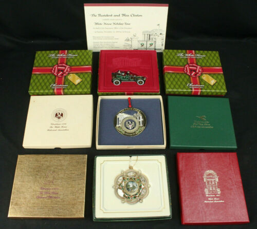 Lot 9 White House Historical Assoc. Christmas Holiday Ornaments w/Duplicates