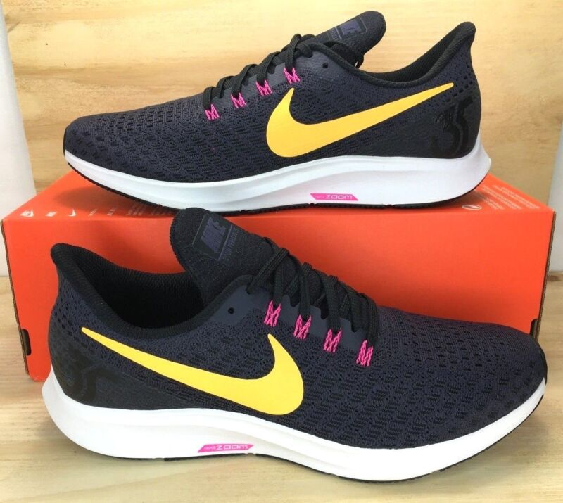 07505293d48af Nike Air Zoom Pegasus 35 Black Orange Pink Men Running Shoes 942851-008  SIZE 10