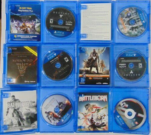 (6) Game Lot of PS4 Games! Battleborn BF 4 Destiny Taken King The Division Morro