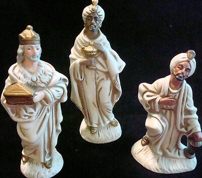 Korea~Vintage Paper~3 Wise Men/Kings~Paper Mache~Christmas Nativity~EXC