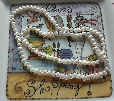 Ivory white fresh water pearl necklace 30