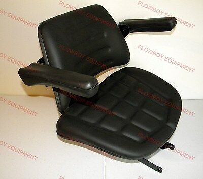 008000167b91 Seat W Suspension Black Vinyl For Mahindra Tractor 4500 5500 6000