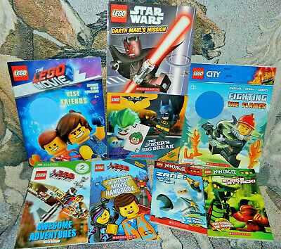 Lego Book Lot of 8 Children's Paperback Fiction~Ninjago, Movie, CITY, Scholastic
