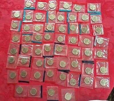 1968-1981 1984-1999 P D BU Roosevelt Dimes Mint Cello Set 60 Coins Free Ship