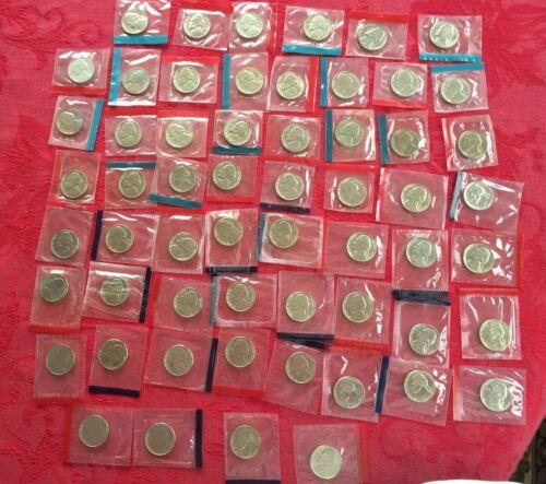 1968-1981 1984-1999 P + D BU Jefferson Nickels Mint Cello Set Run 60 Coins