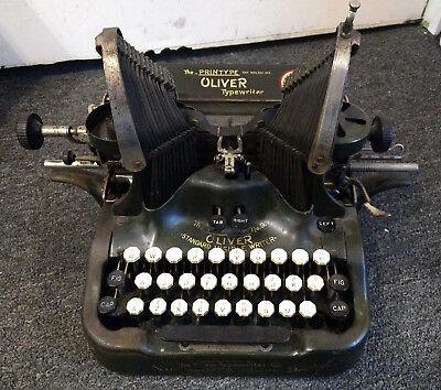 The Printype Oliver #9 Standard Visible Writer Batwing Typewriter Made In USA