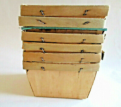 Vtg Quart Berry Boxes Strawberry Wood Baskets Lot of 6 ~ Primitive Home - Strawberry Boxes