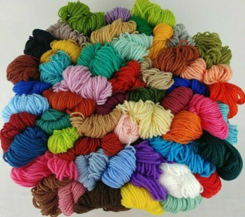 Aunt Lydias Heavy Rug Yarn 75 COLORS 60 70 210 Yd Skeins Polyester Vtg You Pick