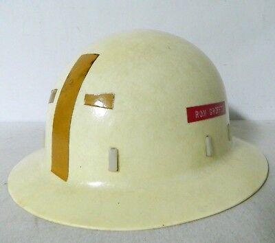 Vintage Goodall Rubber Co. Fiberglass Hard Hat Full Brim Helmet Barnes Trucking
